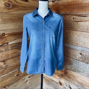 Max Jeans 100% Cotton Chambray Long Sleeve Shirt